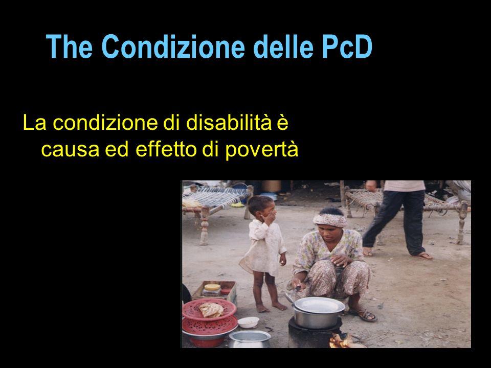 The Condizione delle PcD La condizione di disabilità è causa ed effetto di povertà