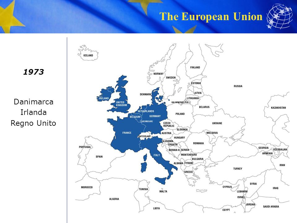 The European Union 1973 Danimarca Irlanda Regno Unito
