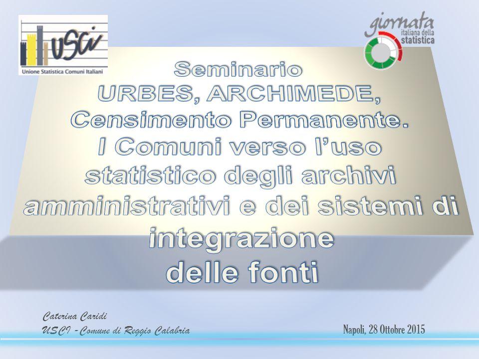 Caterina Caridi USCI -Comune di Reggio Calabria Napoli, 28 Ottobre 2015