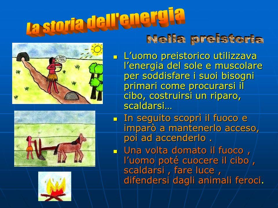 L'ENERGIA è alla base dello sviluppo della civiltà che si è evoluta quando l'uomo incominciò a conoscere e trasformare l'energia del fuoco, del vento