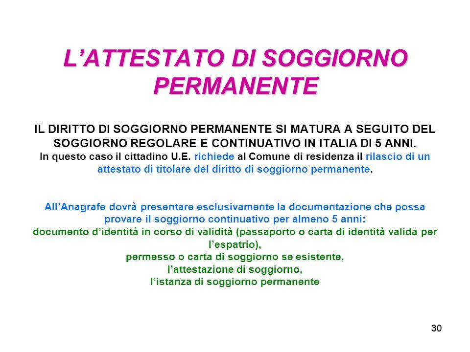 Awesome Carta Di Soggiorno Permanente Images - Design Trends 2017 ...