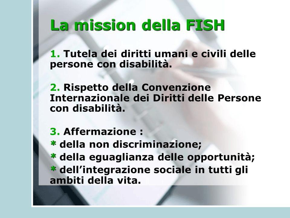 La mission della FISH 1. Tutela dei diritti umani e civili delle persone con disabilità.