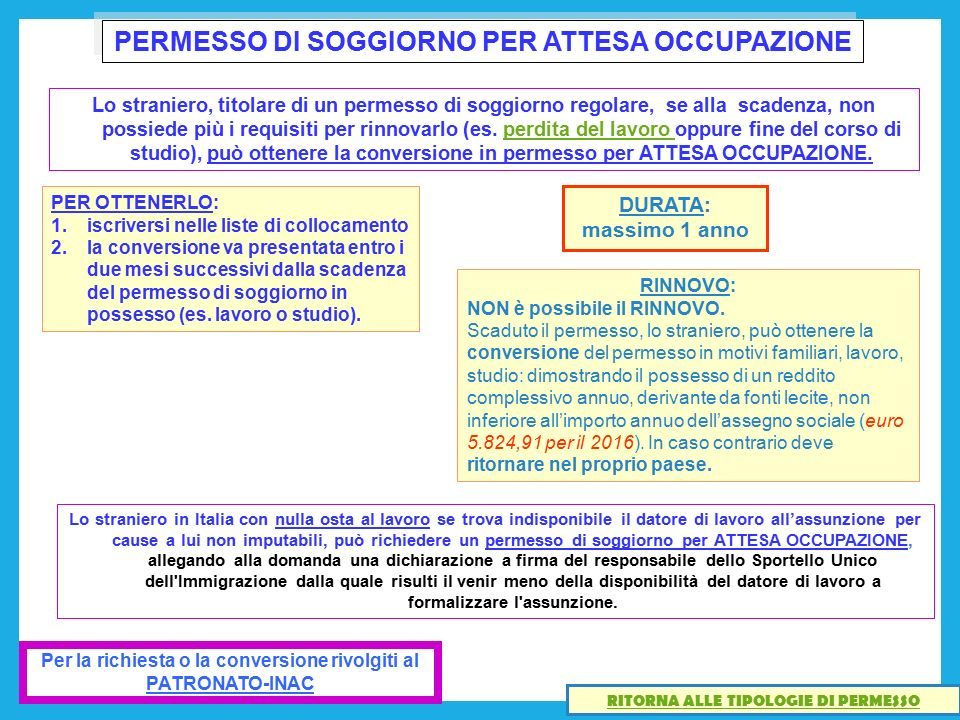 Stunning Modulo 1 Per Aggiornamento Carta Di Soggiorno Gallery ...