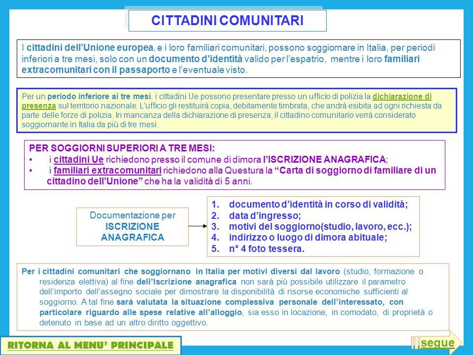 Beautiful Carta Di Soggiorno Familiari Di Cittadini Ue Pictures ...