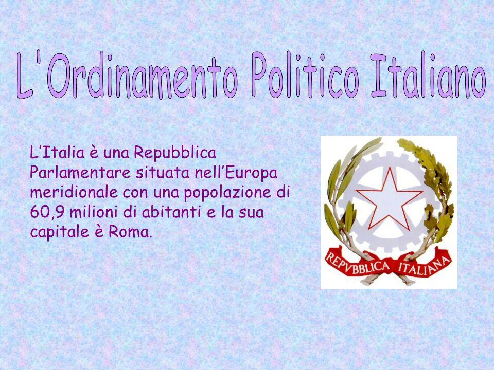L'Italia è una Repubblica Parlamentare situata nell'Europa meridionale con una popolazione di 60,9 milioni di abitanti e la sua capitale è Roma.