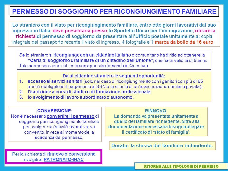 Awesome Carta Di Soggiorno Per Motivi Familiari Pictures ...