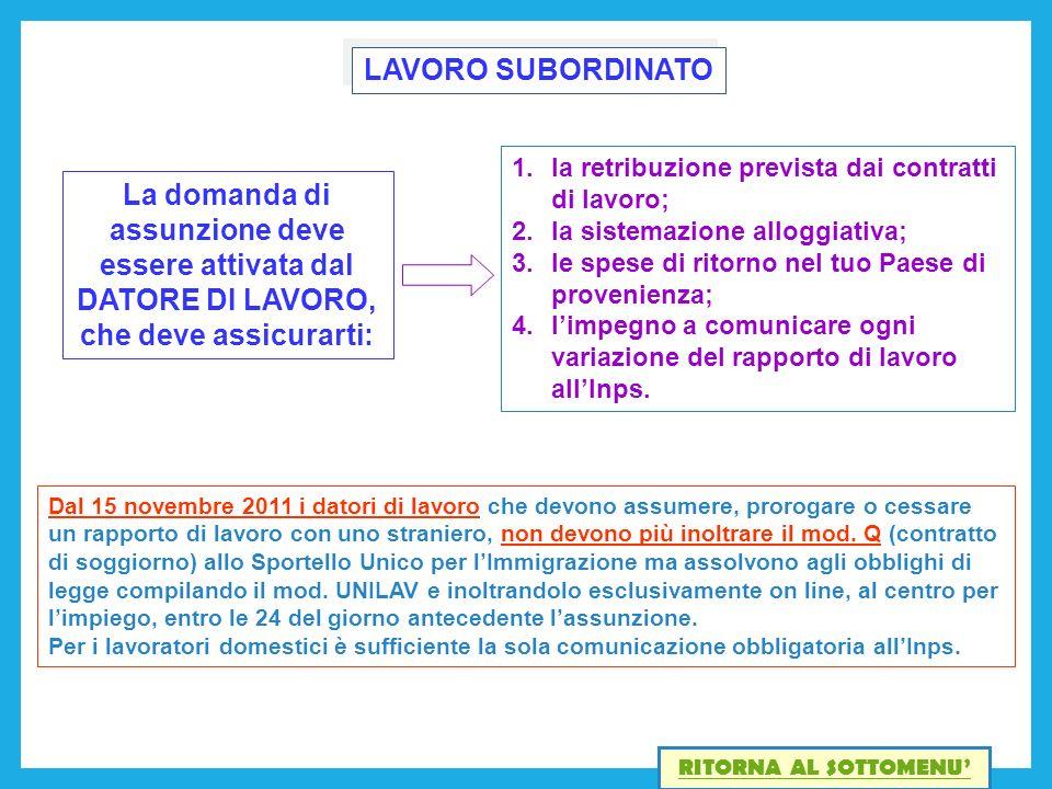 Beautiful Contratto Di Soggiorno Per Lavoro Subordinato Ideas ...