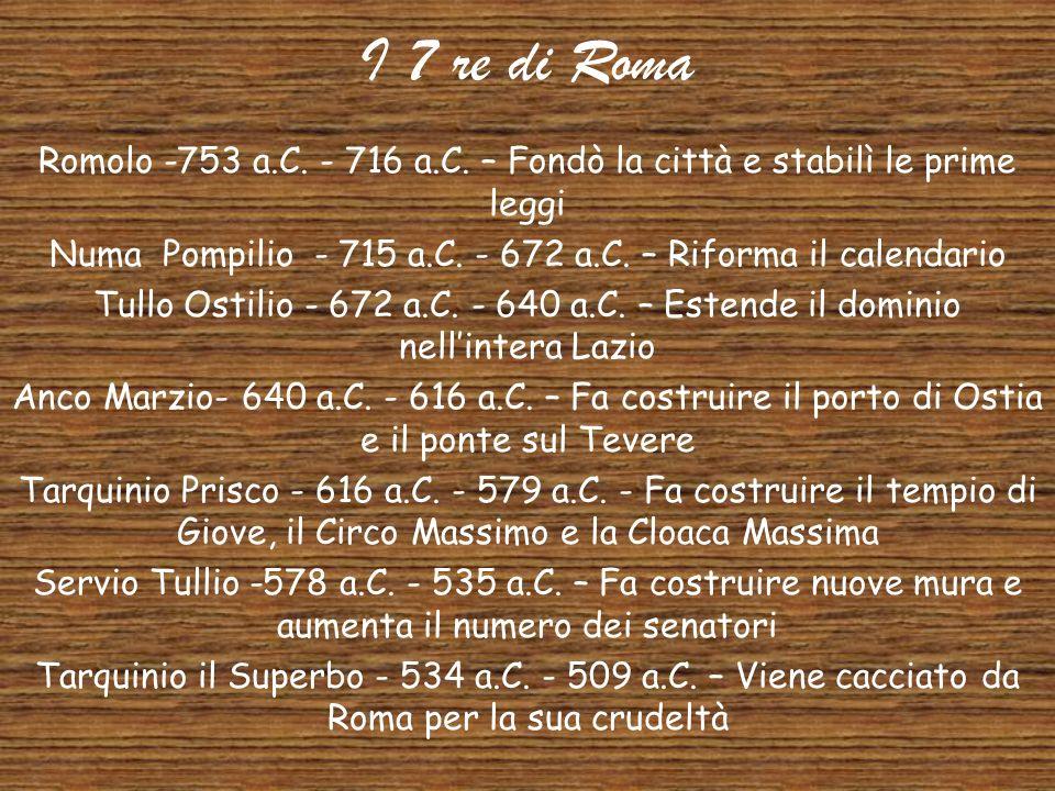 La Monarchia Roma nacque come città-stato governato da un re che aveva il compito di comandare le truppe, amministrare la giustizia e rappresentare la