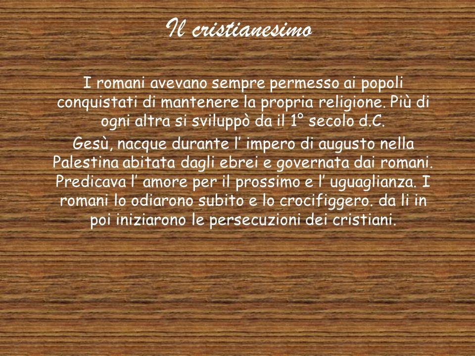 La Religione I romani erano politeisti e avevano copiato alcuni dei dai greci. La religione romana era collegata con la buona condotta nella vita più
