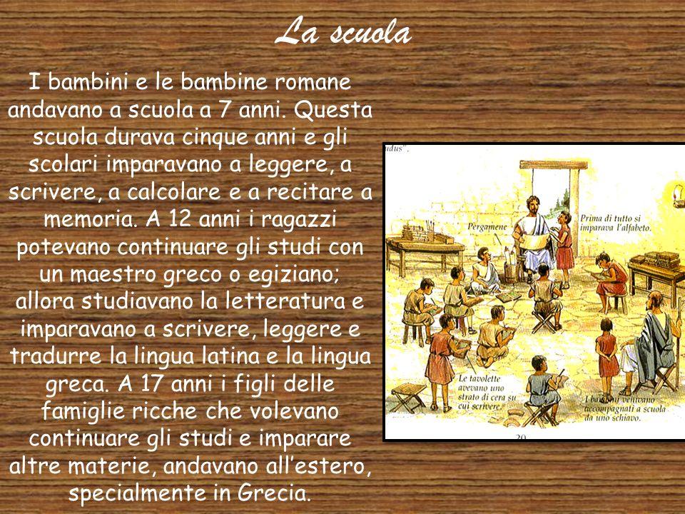 La lingua Gli antichi Romani parlavano il latino. L'italiano di oggi deriva dal latino. Anche il francese, lo spagnolo, il portoghese e il rumeno sono
