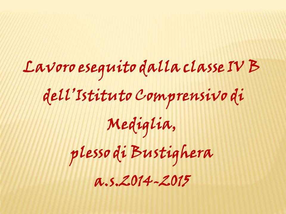 Lavoro eseguito dalla classe IV B dell'Istituto Comprensivo di Mediglia, plesso di Bustighera a.s.2014-2015