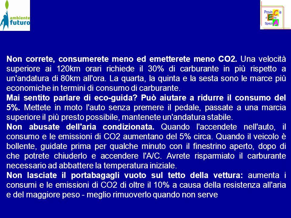 Non correte, consumerete meno ed emetterete meno CO2.
