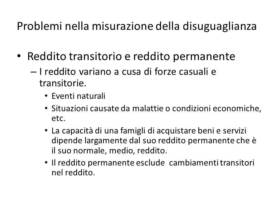 Mobilità economica Gli spostamenti dei soggetti tra le varie classi di reddito sono definiti mobilità economica.