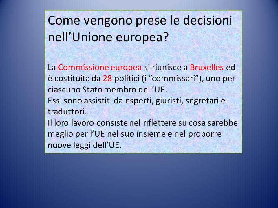 Come vengono prese le decisioni nell'Unione europea.