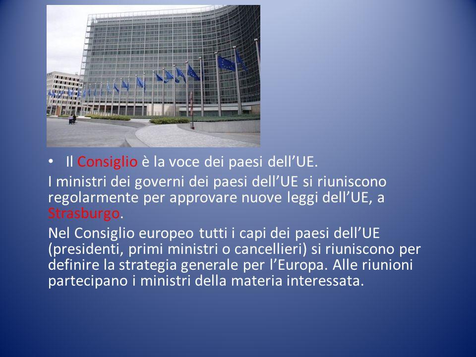 Il Consiglio è la voce dei paesi dell'UE.