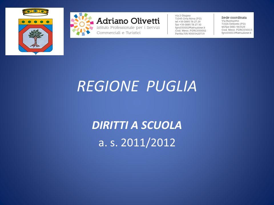 REGIONE PUGLIA DIRITTI A SCUOLA a. s. 2011/2012