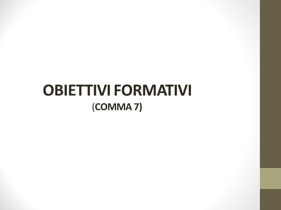 OBIETTIVI FORMATIVI (COMMA 7)