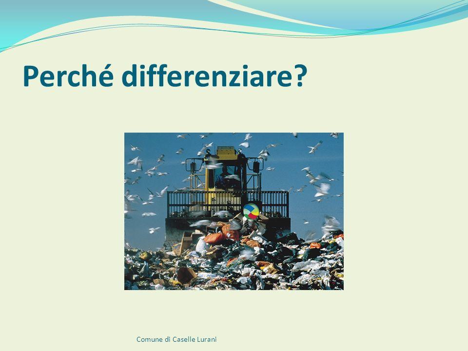 I rifiuti raccolti con il Porta a Porta Imballaggi in plastica Comune di Caselle Lurani Vetro e lattine Carta e cartone Rifiuti indifferenziati Frazione organica