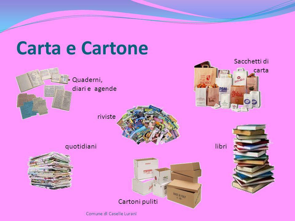 Carta e Cartone Comune di Caselle Lurani Quaderni, diari e agende riviste quotidiani Cartoni puliti libri Sacchetti di carta