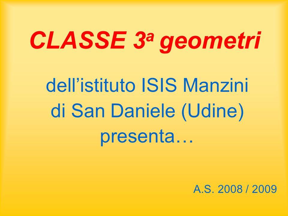 CLASSE 3 a geometri dell'istituto ISIS Manzini di San Daniele (Udine) presenta… A.S. 2008 / 2009