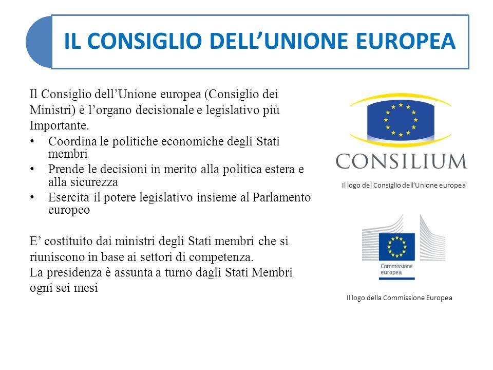 IL CONSIGLIO DELL'UNIONE EUROPEA Il Consiglio dell'Unione europea (Consiglio dei Ministri) è l'organo decisionale e legislativo più Importante. Coordi