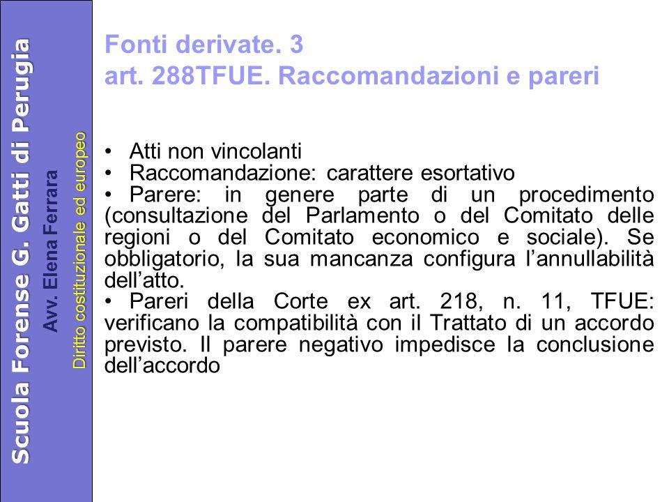 Scuola Forense G. Gatti di Perugia Diritto costituzionale ed europeo Avv.