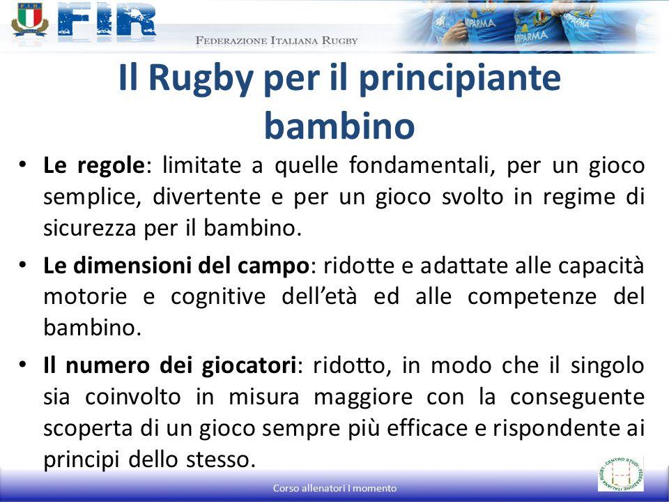 Il Rugby per il principiante bambino Le regole: limitate a quelle fondamentali, per un gioco semplice, divertente e per un gioco svolto in regime di sicurezza per il bambino.
