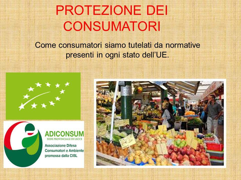 Come consumatori siamo tutelati da normative presenti in ogni stato dell'UE. PROTEZIONE DEI CONSUMATORI