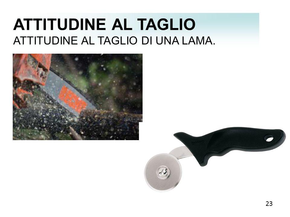 ATTITUDINE AL TAGLIO ATTITUDINE AL TAGLIO DI UNA LAMA. 23