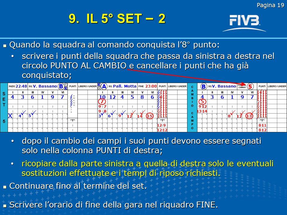 Pagina 18 Dopo il sorteggio il segnapunti ottiene le seguenti informazioni: Dopo il sorteggio il segnapunti ottiene le seguenti informazioni: Con queste informazioni compila le prime due sezioni del riquadro.