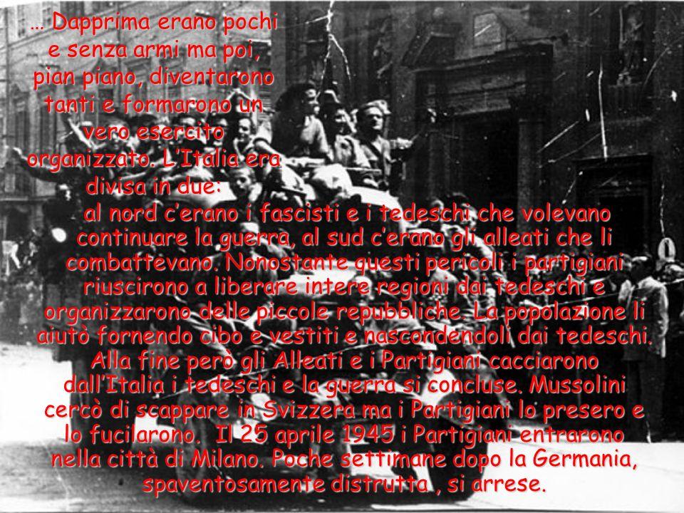 … Le altre nazioni tra cui gli Stati Uniti, l'Inghilterra e la Russia allora si allearono per combatterli. La guerra durò dal 1940 al 1945. Ma dopo tr