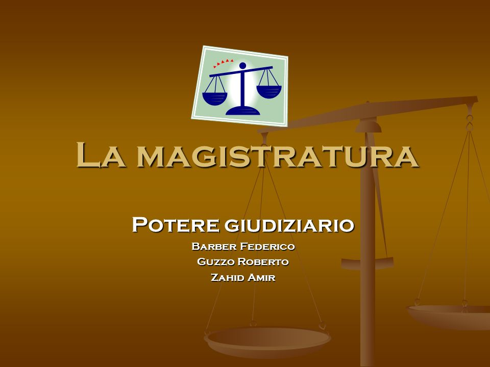La magistratura Potere giudiziario Barber Federico Guzzo Roberto Zahid Amir
