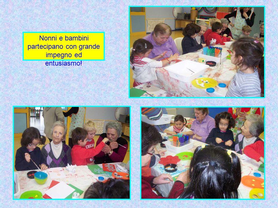 Nonni e bambini partecipano con grande impegno ed entusiasmo!