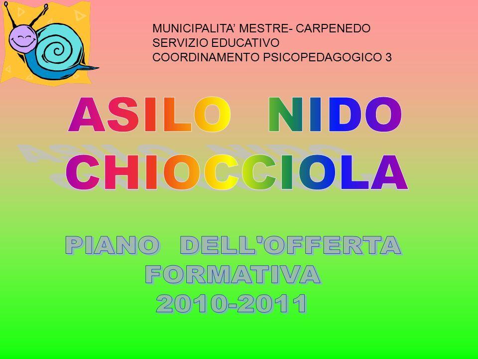 MUNICIPALITA' MESTRE- CARPENEDO SERVIZIO EDUCATIVO COORDINAMENTO PSICOPEDAGOGICO 3