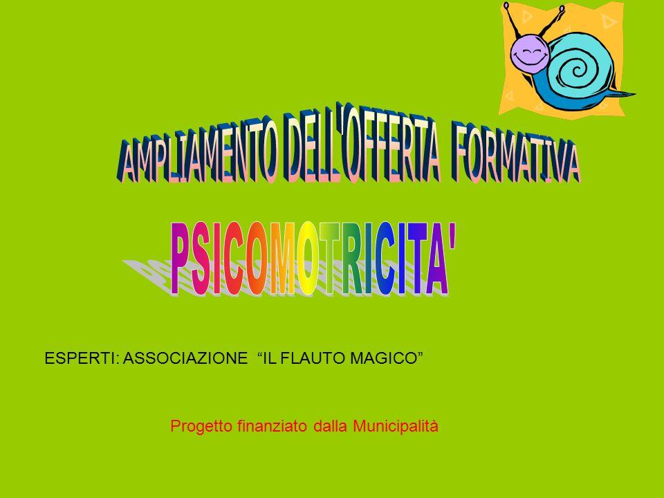ESPERTI: ASSOCIAZIONE IL FLAUTO MAGICO Progetto finanziato dalla Municipalità