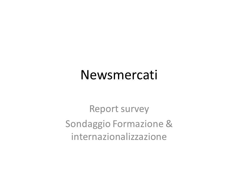 Newsmercati Report survey Sondaggio Formazione & internazionalizzazione