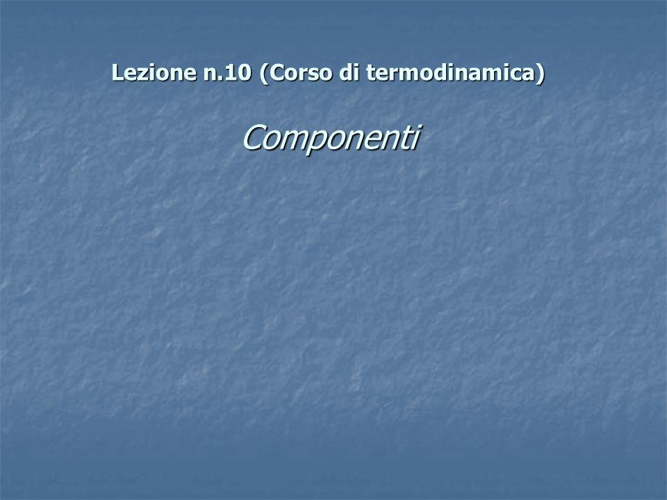 Lezione n.10 (Corso di termodinamica) Componenti