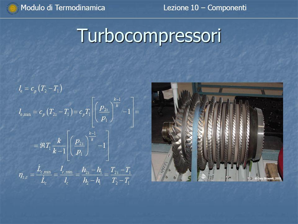 Modulo di TermodinamicaLezione 10 – Componenti Turbocompressori