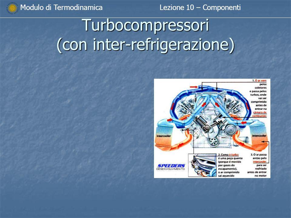 Modulo di TermodinamicaLezione 10 – Componenti Turbocompressori (con inter-refrigerazione)