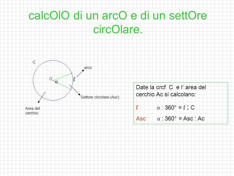 calcOlO di un arcO e di un settOre circOlare.