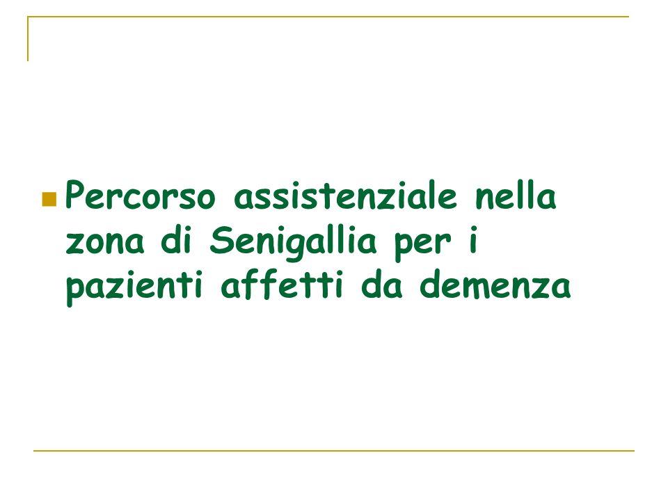 Percorso assistenziale nella zona di Senigallia per i pazienti affetti da demenza