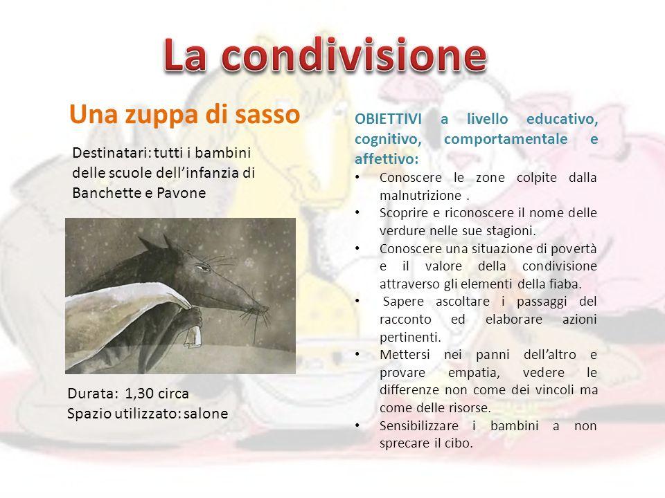 Una zuppa di sasso OBIETTIVI a livello educativo, cognitivo, comportamentale e affettivo: Conoscere le zone colpite dalla malnutrizione.