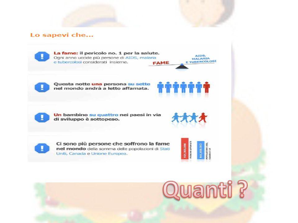 Arcobaleno OBIETTIVI a livello educativo, cognitivo, comportamentale e affettivo: Conoscere le zone colpite dalla malnutrizione.