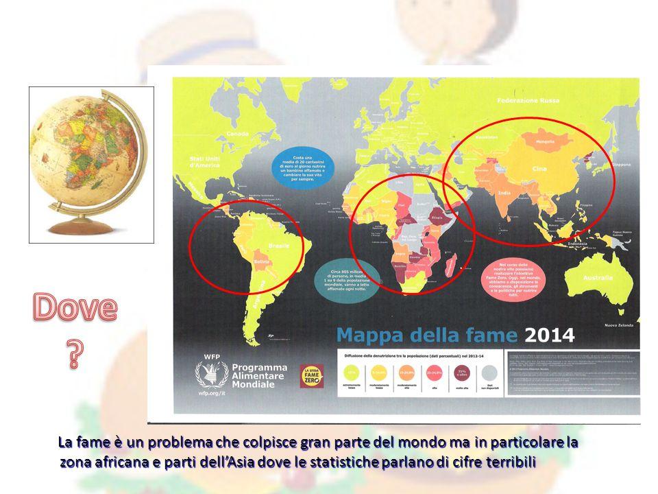 Le attività richiedono: Presentazione delle zone dove è maggiormente presente la malnutrizione (Africa, Centro America, alcuni paesi dell'Asia).