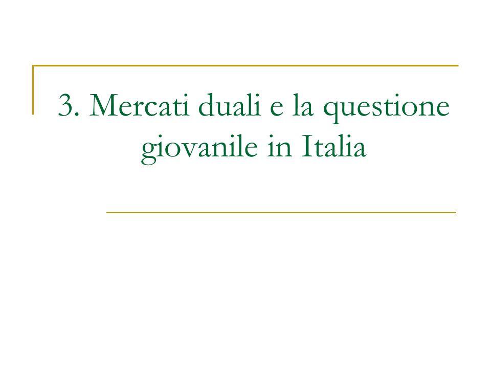 3. Mercati duali e la questione giovanile in Italia