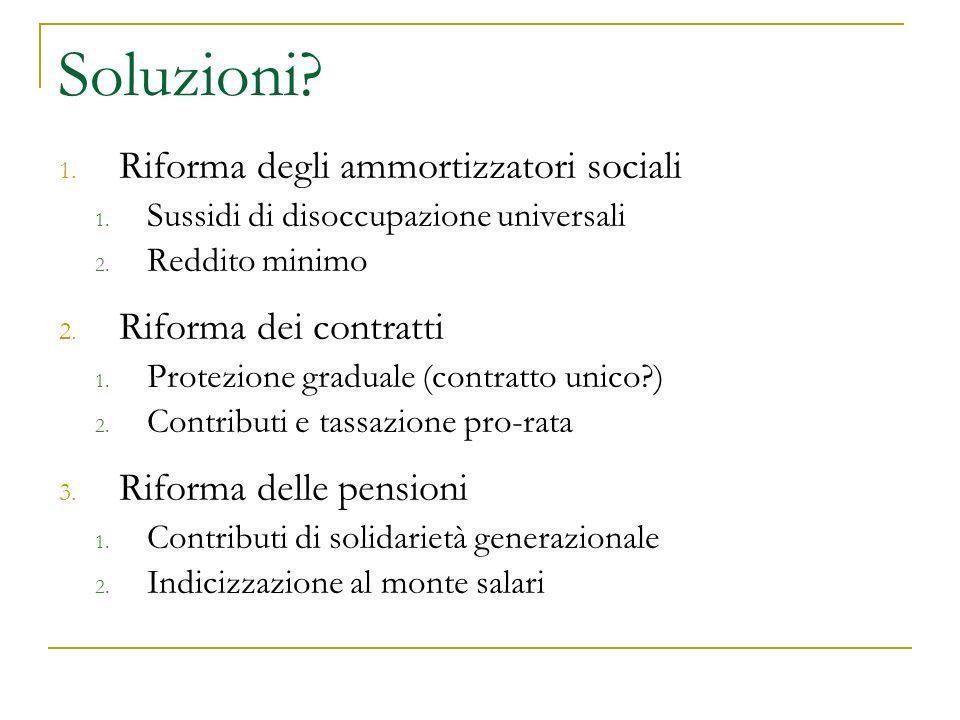 Soluzioni. 1. Riforma degli ammortizzatori sociali 1.