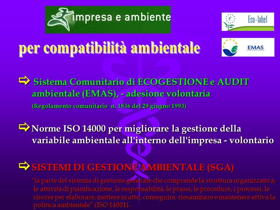  Sistema Comunitario di ECOGESTIONE e AUDIT ambientale (EMAS), - adesione volontaria (Regolamento comunitario n.
