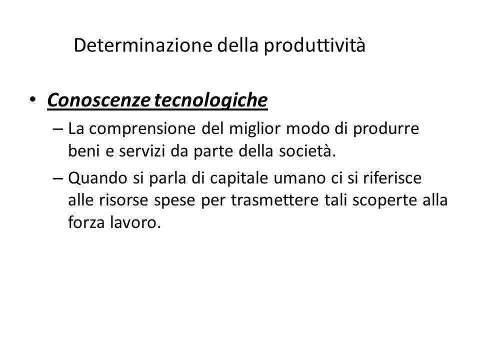 How Determinazione della produttivitàd Conoscenze tecnologiche – La comprensione del miglior modo di produrre beni e servizi da parte della società.