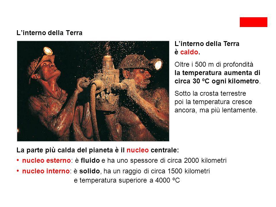 L'interno della Terra L'interno della Terra è caldo.