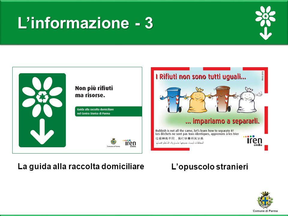 L'informazione - 3 L'opuscolo stranieri La guida alla raccolta domiciliare